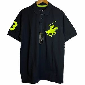 Beverly Hills Polo Club Collared Lime Green Pony L